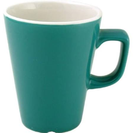 Churchill New Horizons Colour Glaze Cafe Latte Mugs Green 340ml W893 (Box of 12)