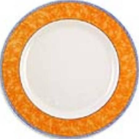 Churchill New Horizons Marble Border Classic Plates Orange 280mm - Pac (Box of 12)