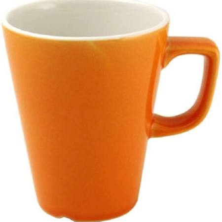 Churchill New Horizons Colour Glaze Cafe Latte Mugs Orange 340ml (Box of 12)