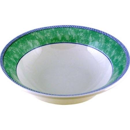 Churchill New Horizons Marble Border Oatmeal Bowls Green 150mm - M788 (Box of 24)