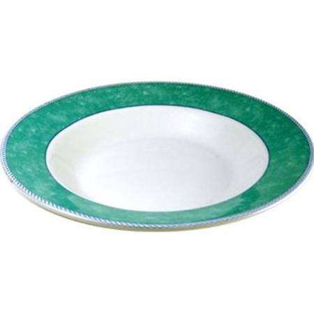 Churchill New Horizons Marble Border Pasta Plates Green 300mm - M783 (Box of 12)