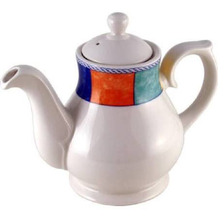 Churchill New Horizons Chequered Border Tea and Coffee Pots 852ml (Box of 4)