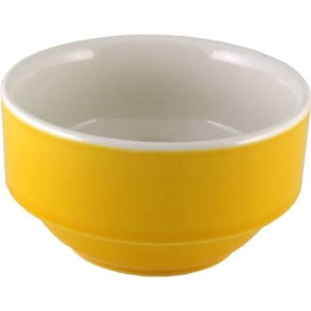 Churchill New Horizons Colour Glaze Consomme Bowls Yellow 105mm M830 (Box of 24)