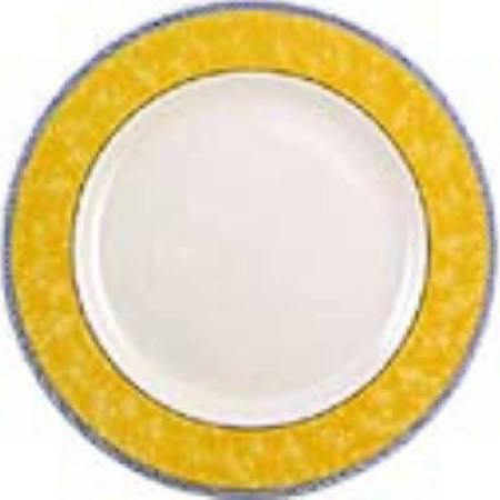 Churchill New Horizons Marble Border Classic Plates Yellow 165mm - Pac (Box of 24)