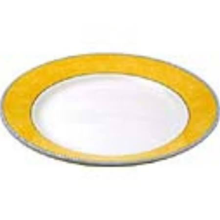 "Churchill New Horizons Marble Border Mediterranean Dish - Yellow - 10"" (Box of 12)"