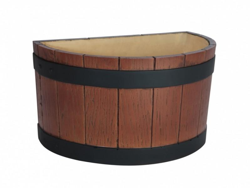 Half Barrel End Ice Tub Wood Grain Effect 7Ltr