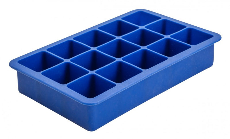 "15 Cavity Silicone Ice Cube Mould 1.25"" Square (Blue)"