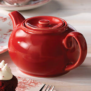 2 Cup Churchill Red Cafe Nova Teapot 42cl / 15oz - X4 (Box of 4)