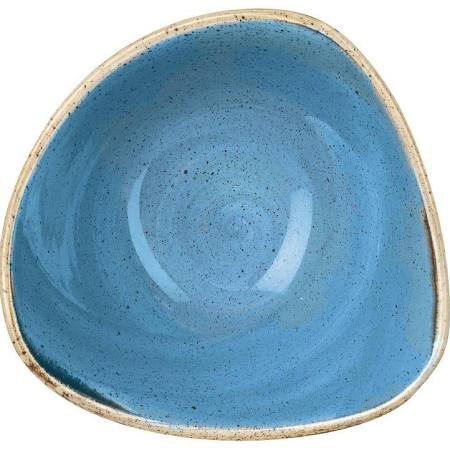 "Churchill Stonecast Cornflower Blue Triangle Bowl 15.3cm / 6"" (Box of 12)"
