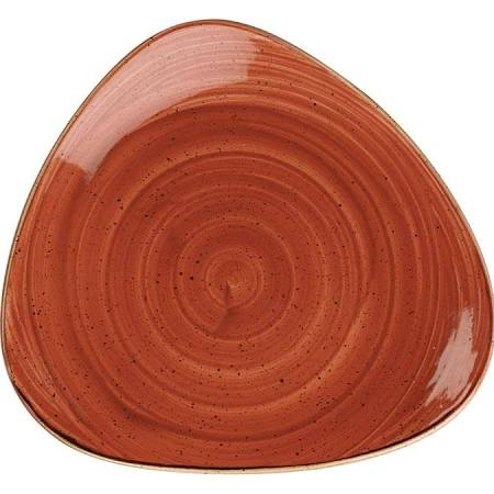 "Churchill Stonecast Spiced Orange Triangle Plate 31.1cm / 12"" (Box of 6)"