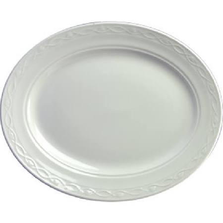 Churchill Chateau Blanc Oval Plates 254mm - M552 (Box of 12)