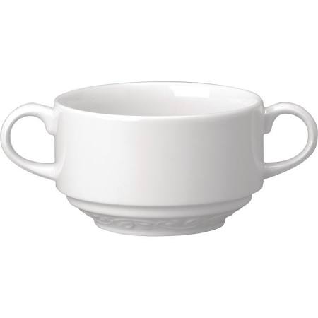 Churchill Chateau Blanc Handled Consomme Bowls 280ml - Ca262 (Box of 4)