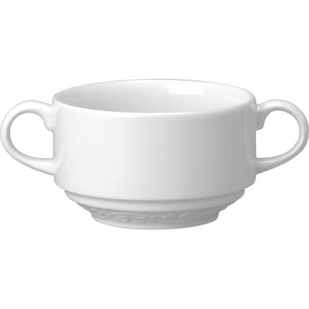 Churchill Chateau Blanc Handled Consomme Bowls 280ml - CA262 (Box of 12)