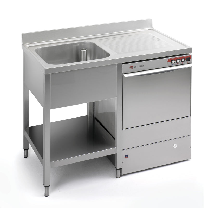 Sammic Sink unit (worktop only) 1200x600 FRLV-612/11R (drying rack on right side)