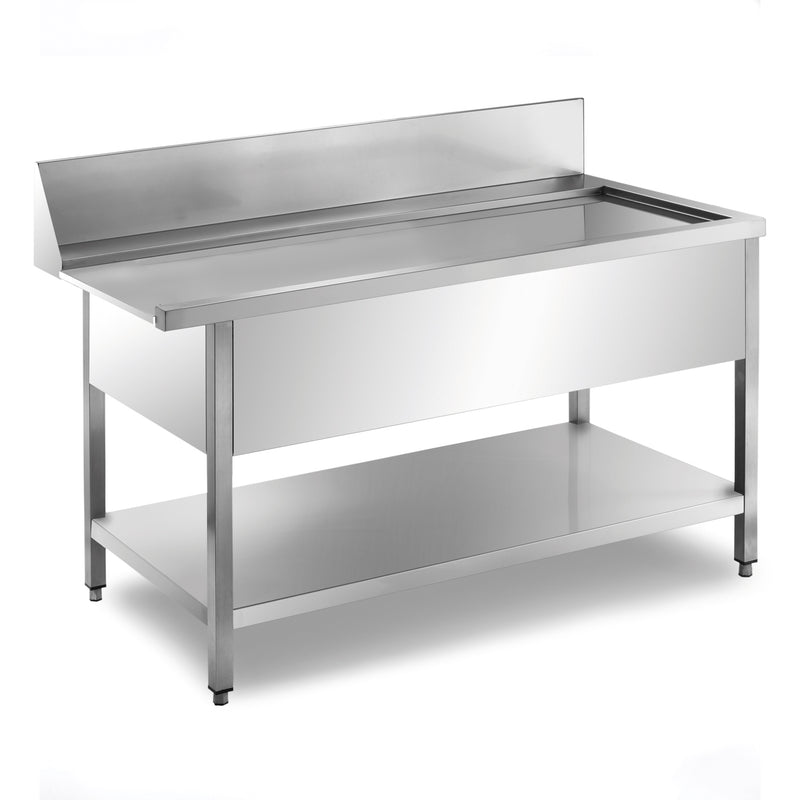 Sammic Side table with splash back MP-1200D right (1200x750x850)