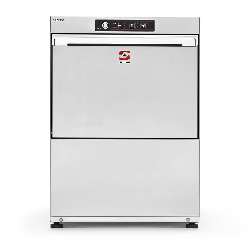 Sammic Glasswasher X-40BD 230/50/1 DD (built-in water softener and drain pump)