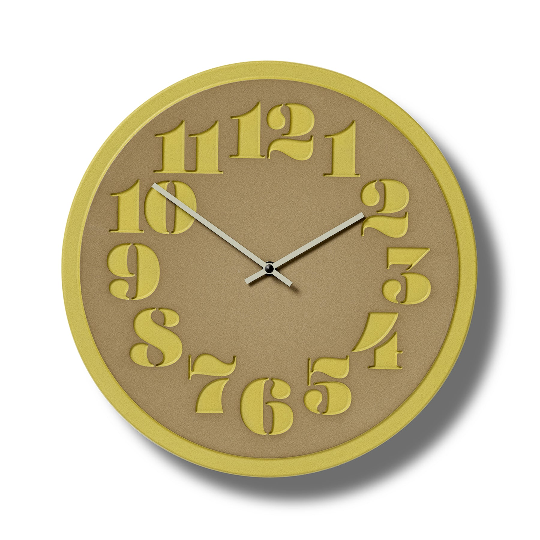 Stencil Clock in Canary Zoom Image 1