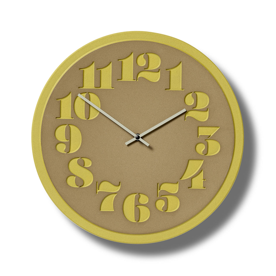 Stencil Clock in Canary Image 1