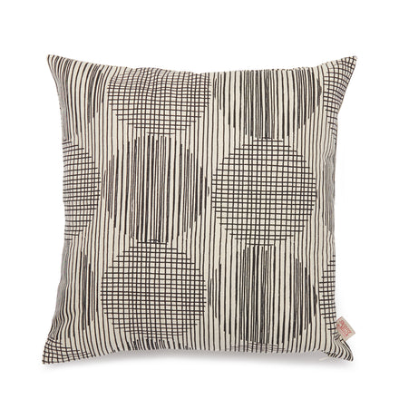 Block Circle Pillow in Licorice