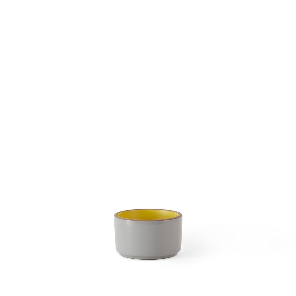 Mini Container with Wood Lid in Lemongrass and Light Grey Whale Zoom Image 2
