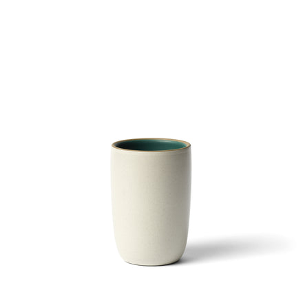 Tall Modern Cup in Emerald/Sand