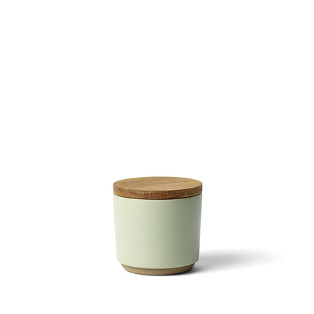 Container with Oak Lid in Nicasio Green
