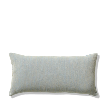 Chalk and Sturdy Girl Pillow in Brooke and Blue Hen