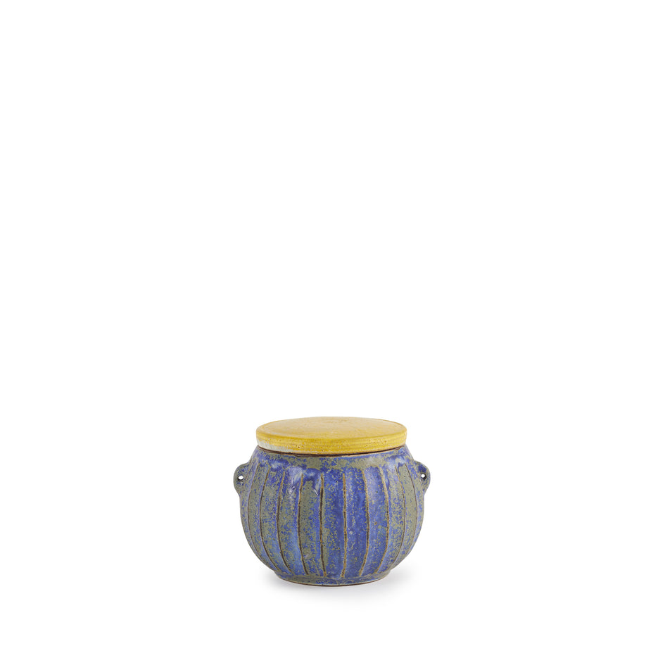 #31 Canister in Indigo with Yellow Lid Image 1