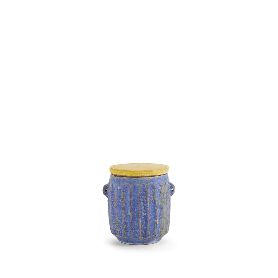 #32 Canister in Indigo with Yellow Lid Image 1