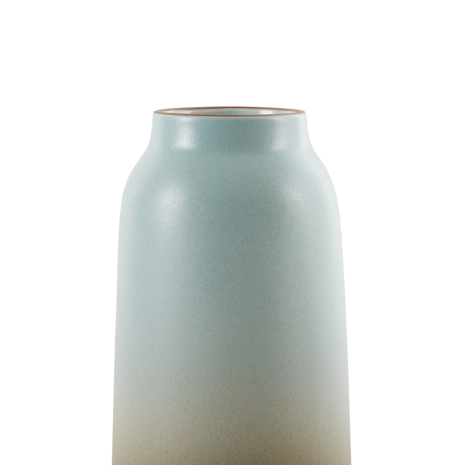 Tall Vase in Aqua and Barley Image 3