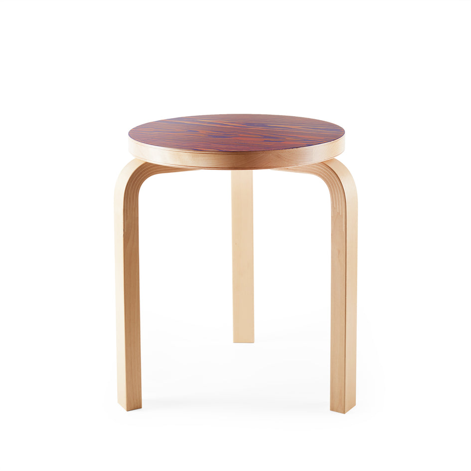 Stool 60 in Pink and Purple Image 1