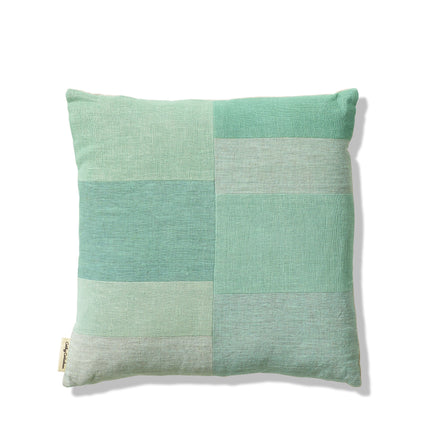 Patchwork Pillow in Celadon