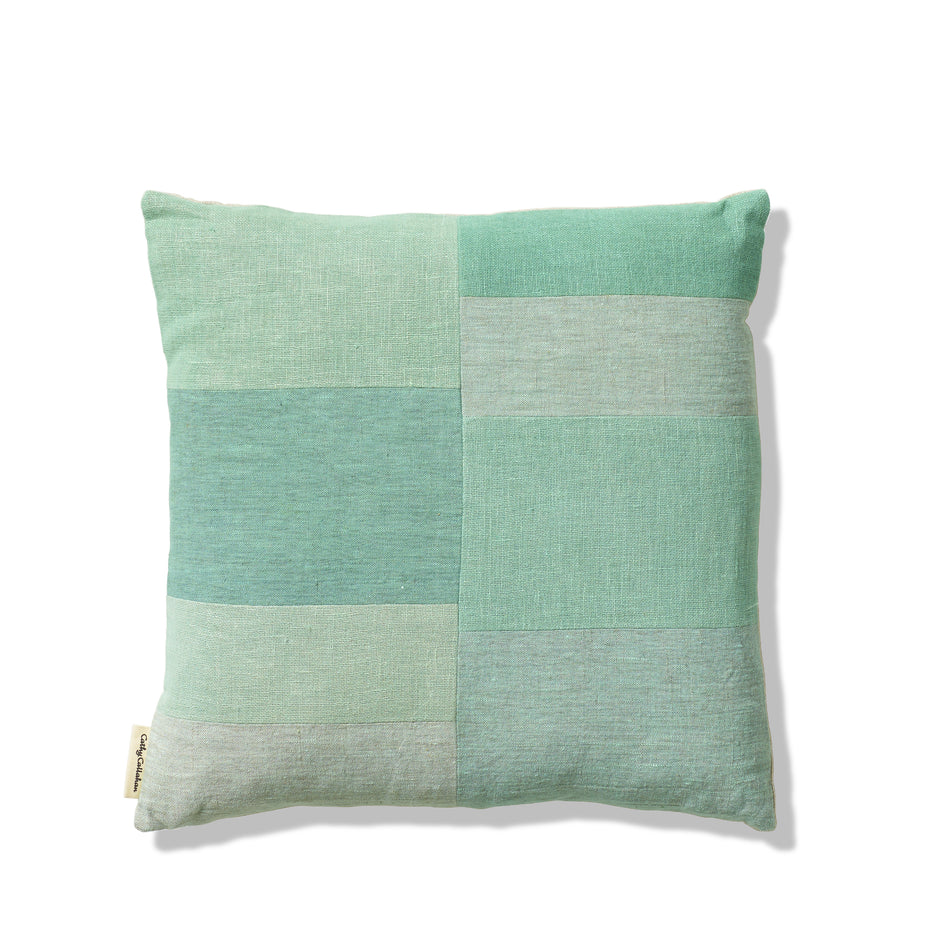 Patchwork Pillow in Celadon Image 1