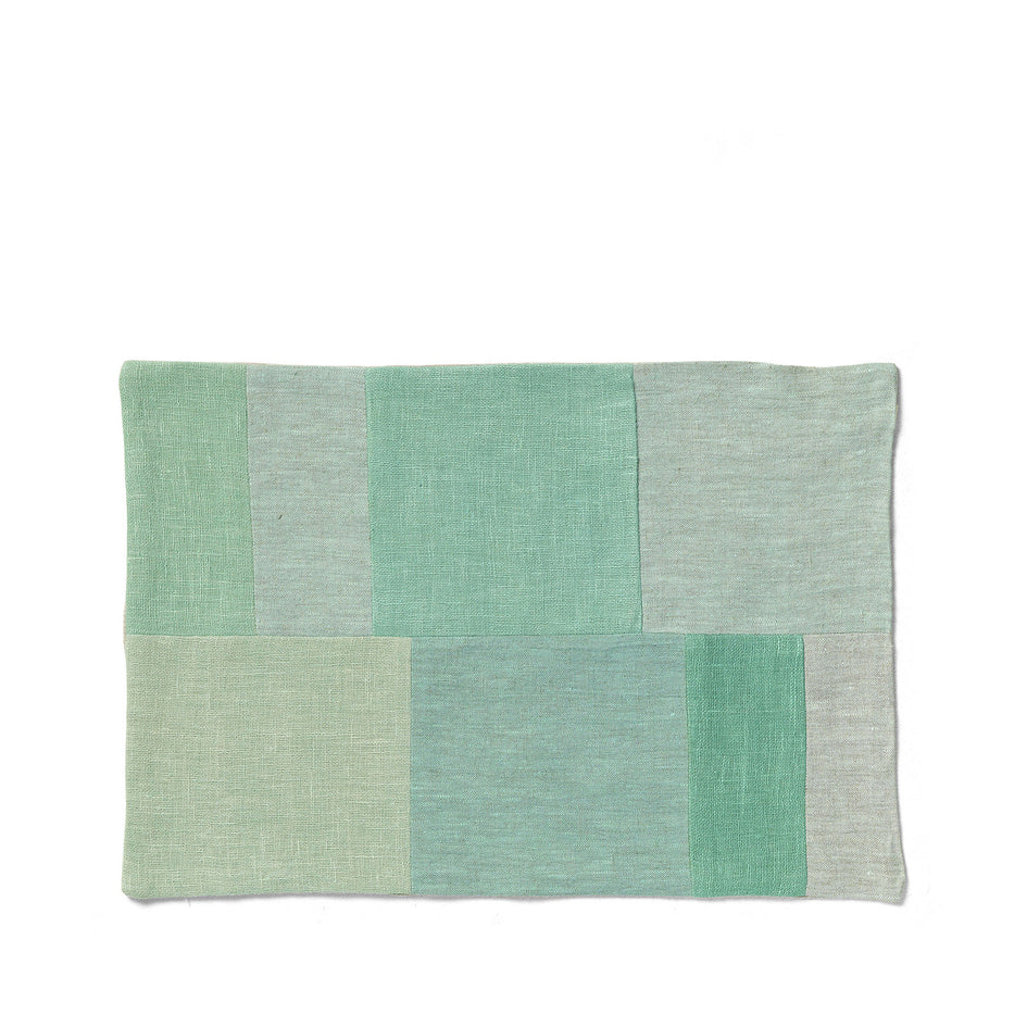 Patchwork Placemat in Celadon Image 1