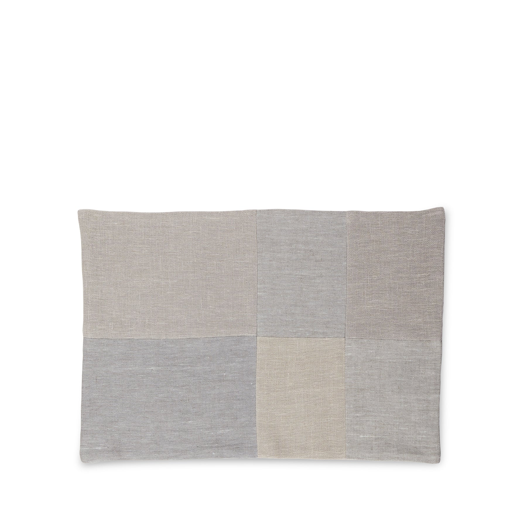 Linen Patchwork Placemat in Fog Zoom Image 1