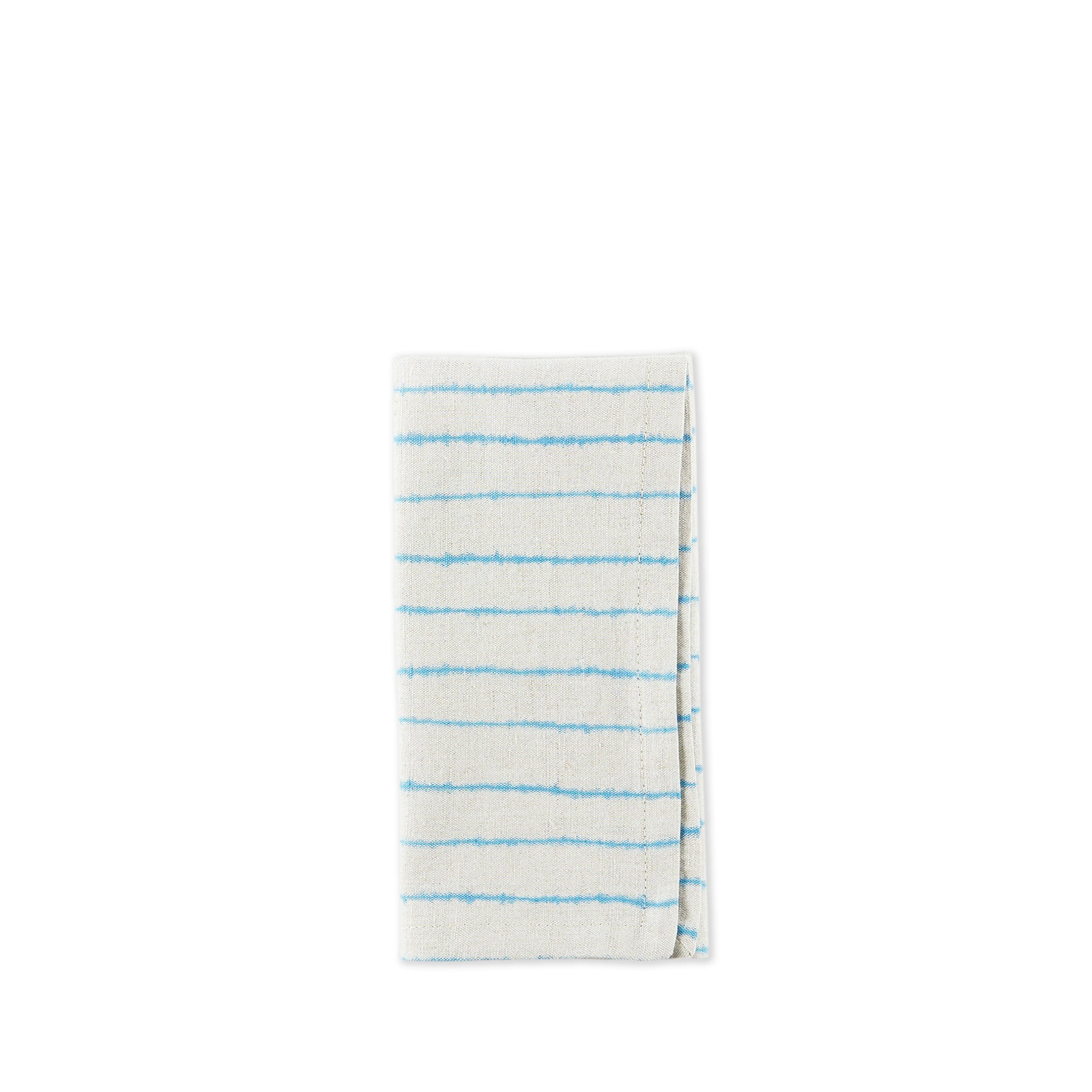 Linen Lines Napkin in Bright Blue Zoom Image 1