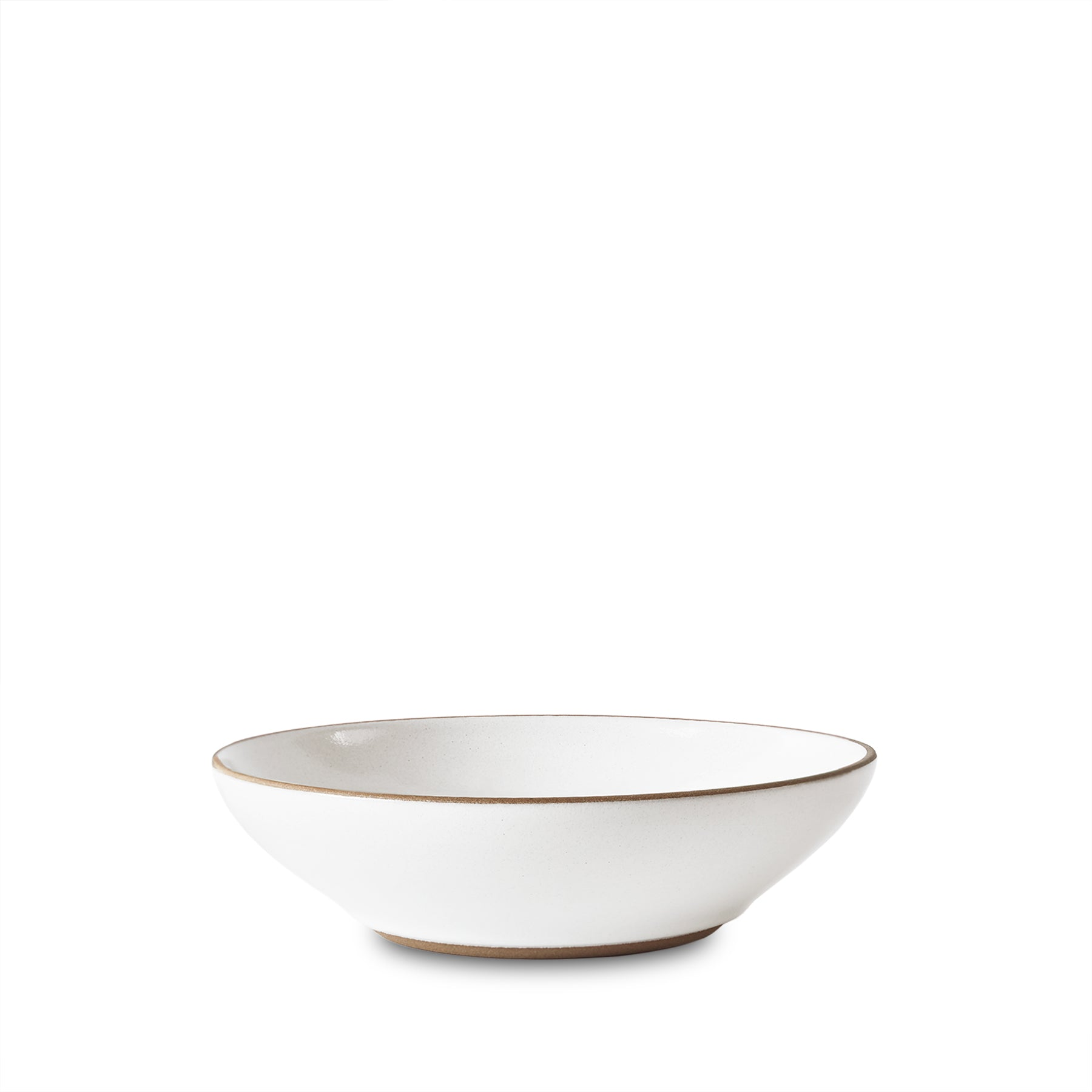 Side Bowl in Opaque White with Wiped Edge Zoom Image 1