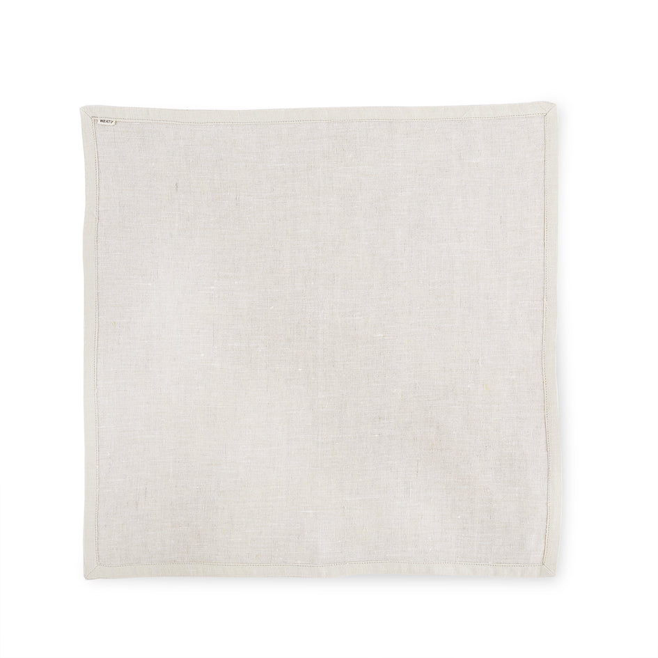 Linen Frame Napkin in Natural Zoom Image 2