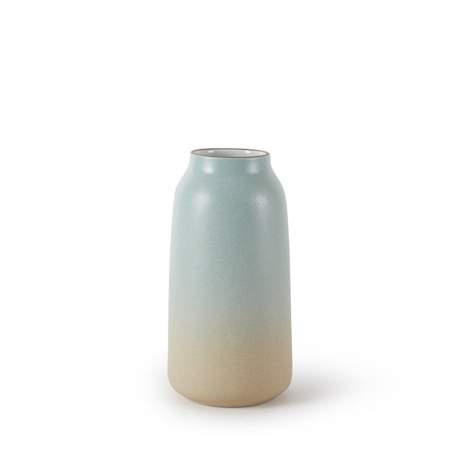Tall Vase in Aqua and Barley Image 1