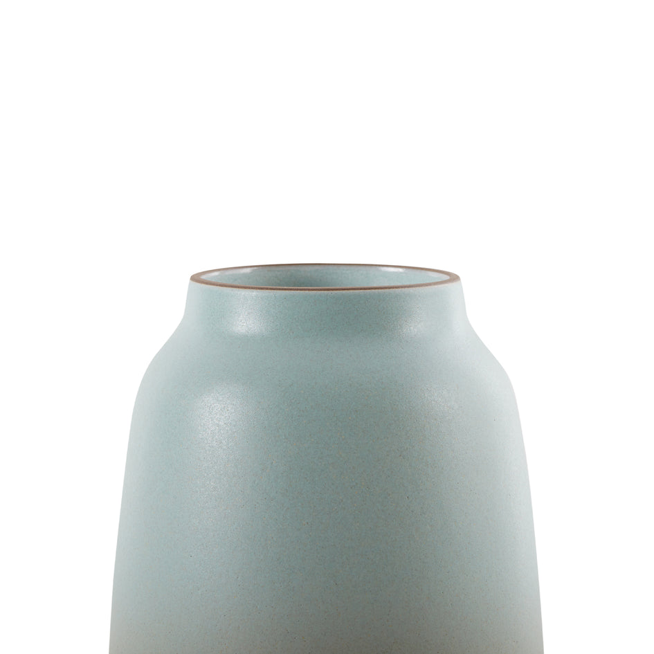 Wide Vase in Aqua and Barley Image 3