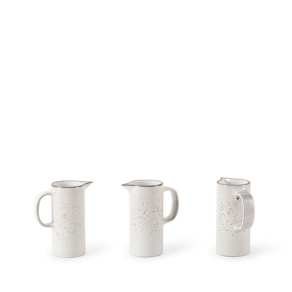 Small Pitcher in Opaque White and Matte Brown Image 2