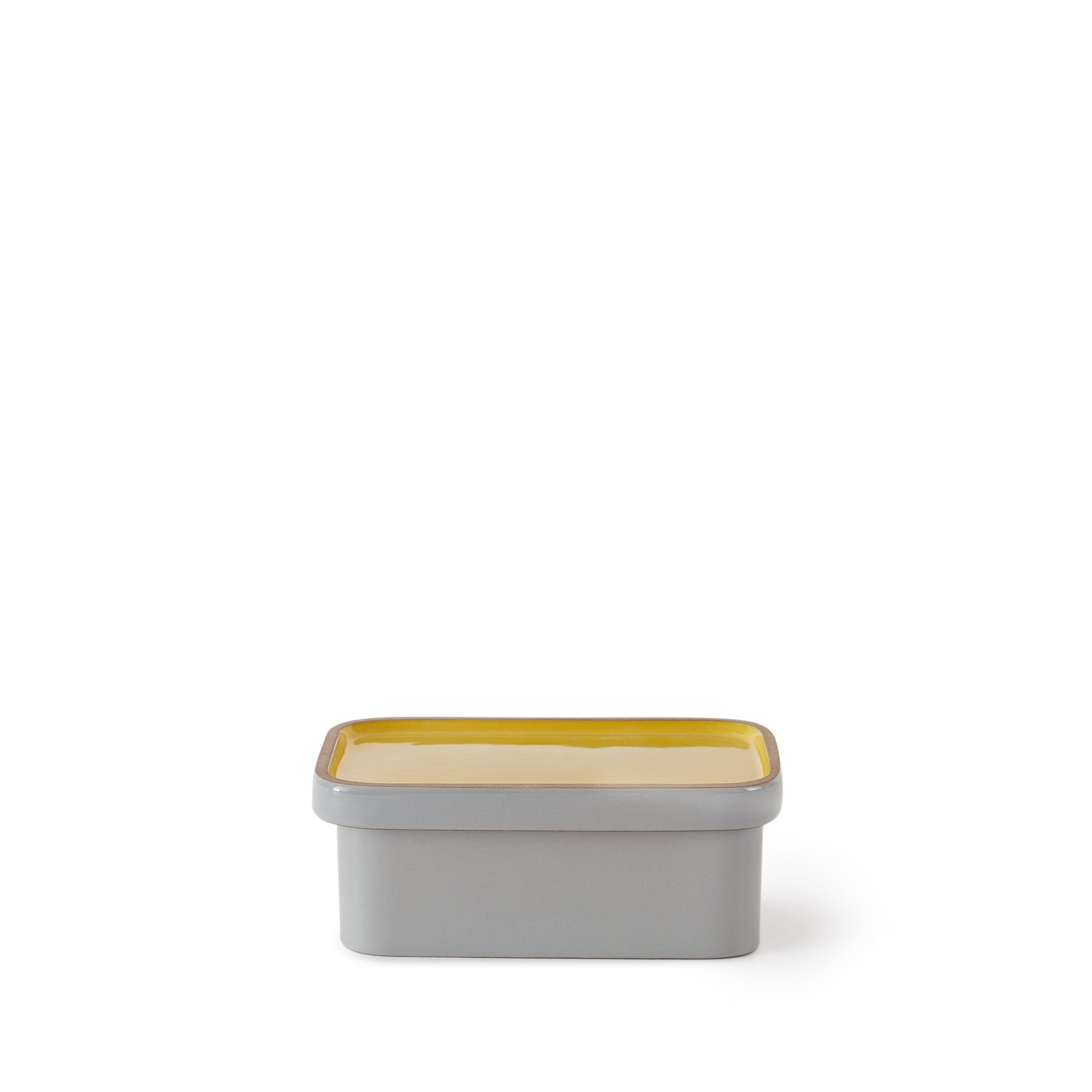 Butter Dish in Yuzu and Light Grey Whale Zoom Image 1