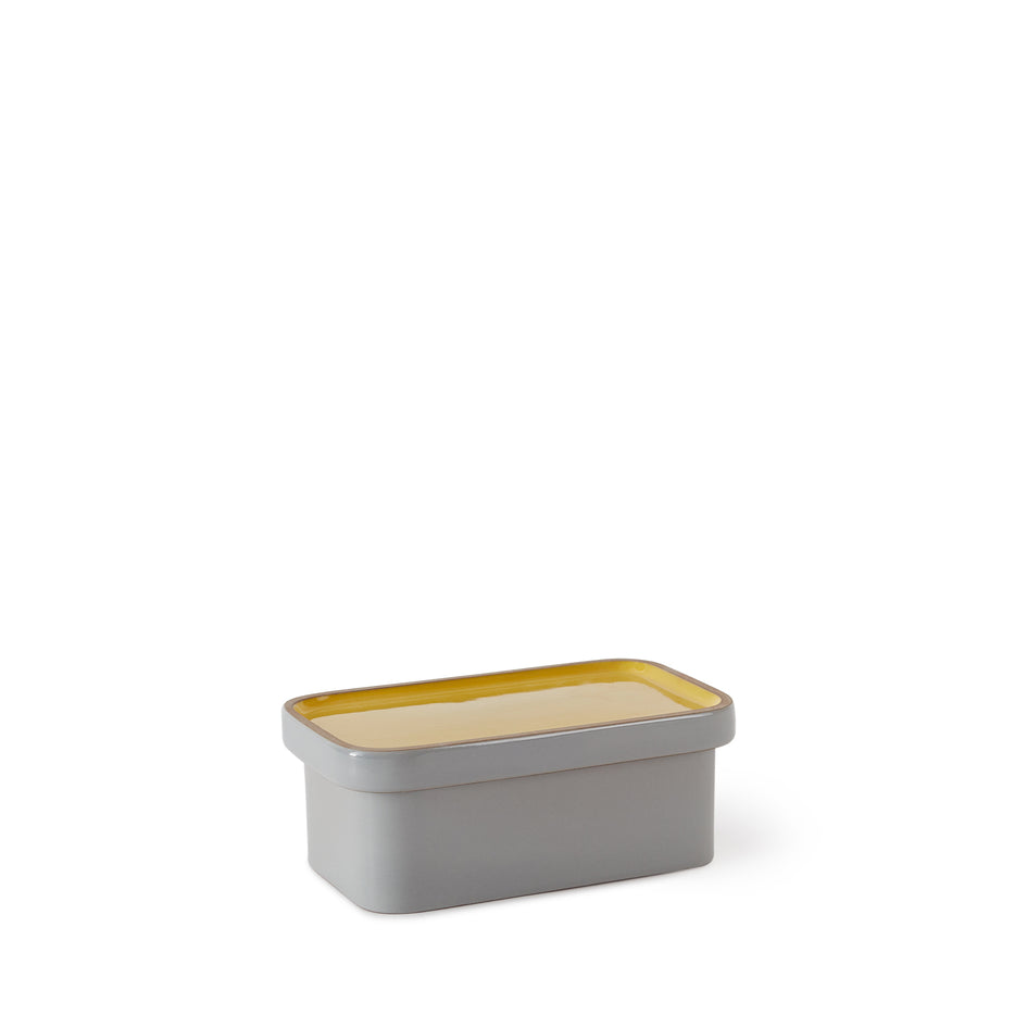 Butter Dish in Yuzu and Light Grey Whale Zoom Image 2