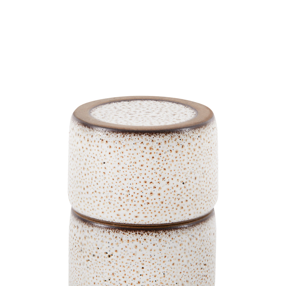 Matchstick Holder in Opaque White and Matte Brown Zoom Image 3