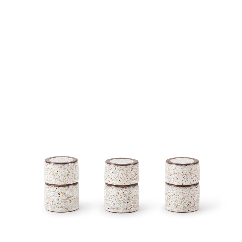 Matchstick Holder in Opaque White and Matte Brown Image 2