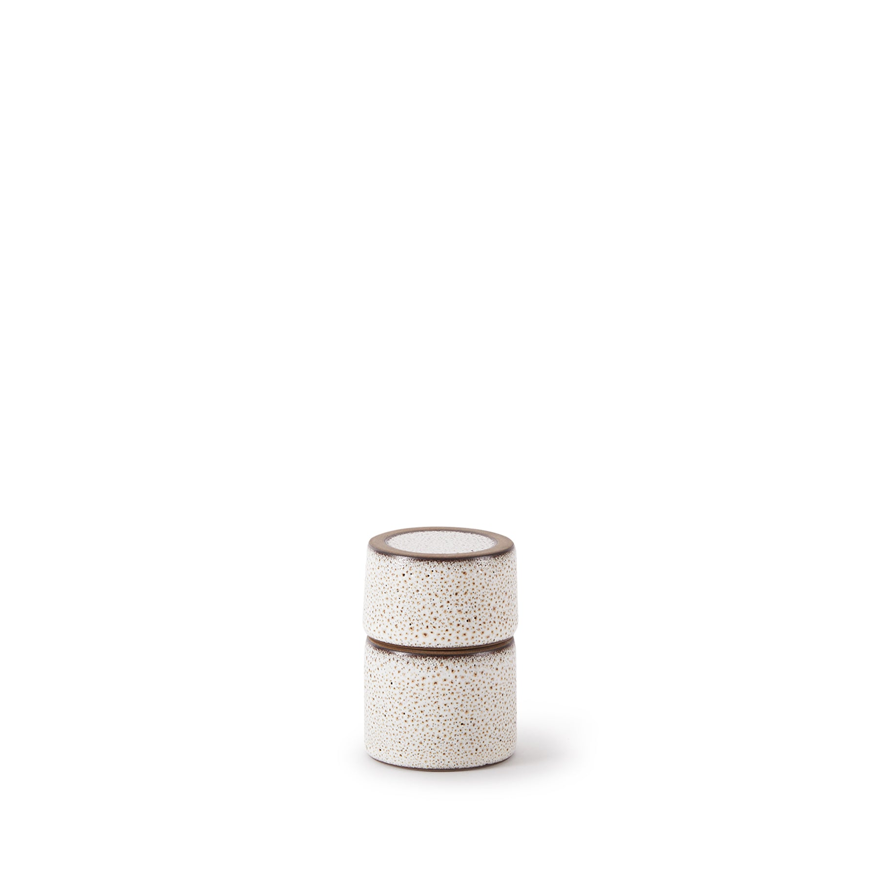 Matchstick Holder in Opaque White and Matte Brown Zoom Image 1