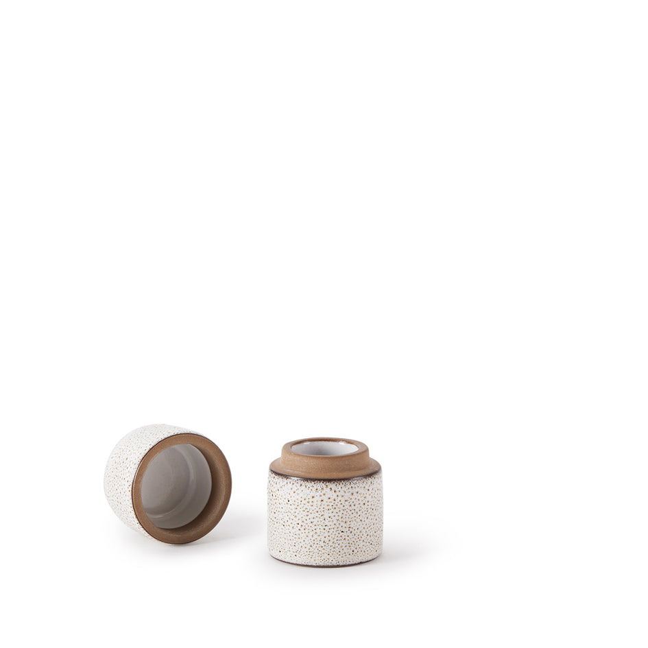 Matchstick Holder in Opaque White and Matte Brown Image 4