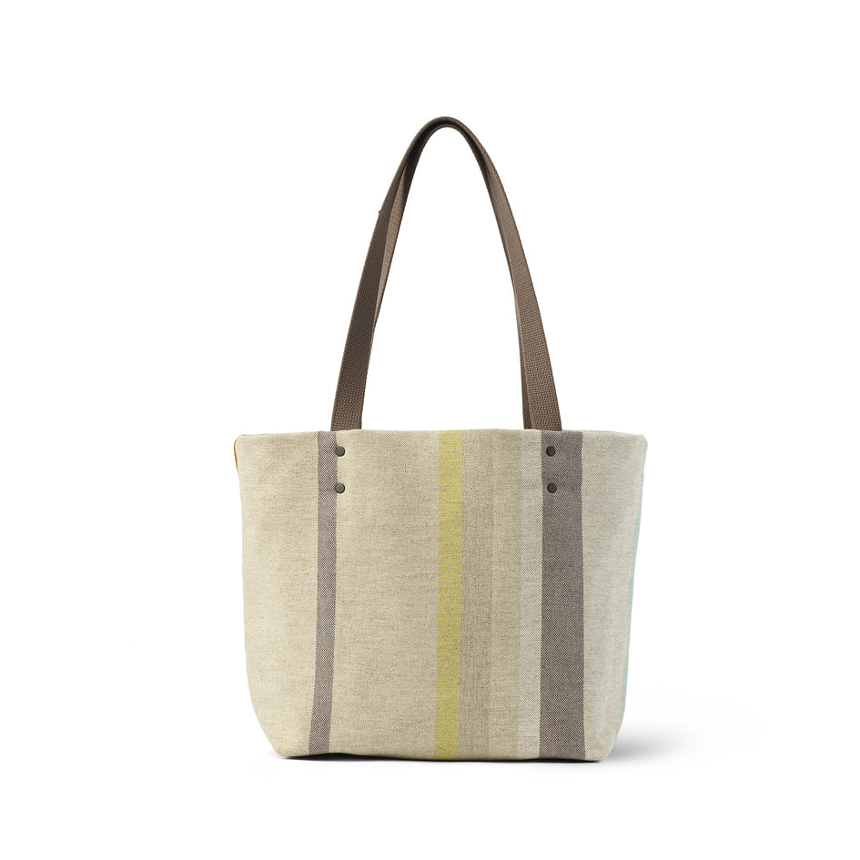 Reversible Tote in Multi-Stripe Image 2