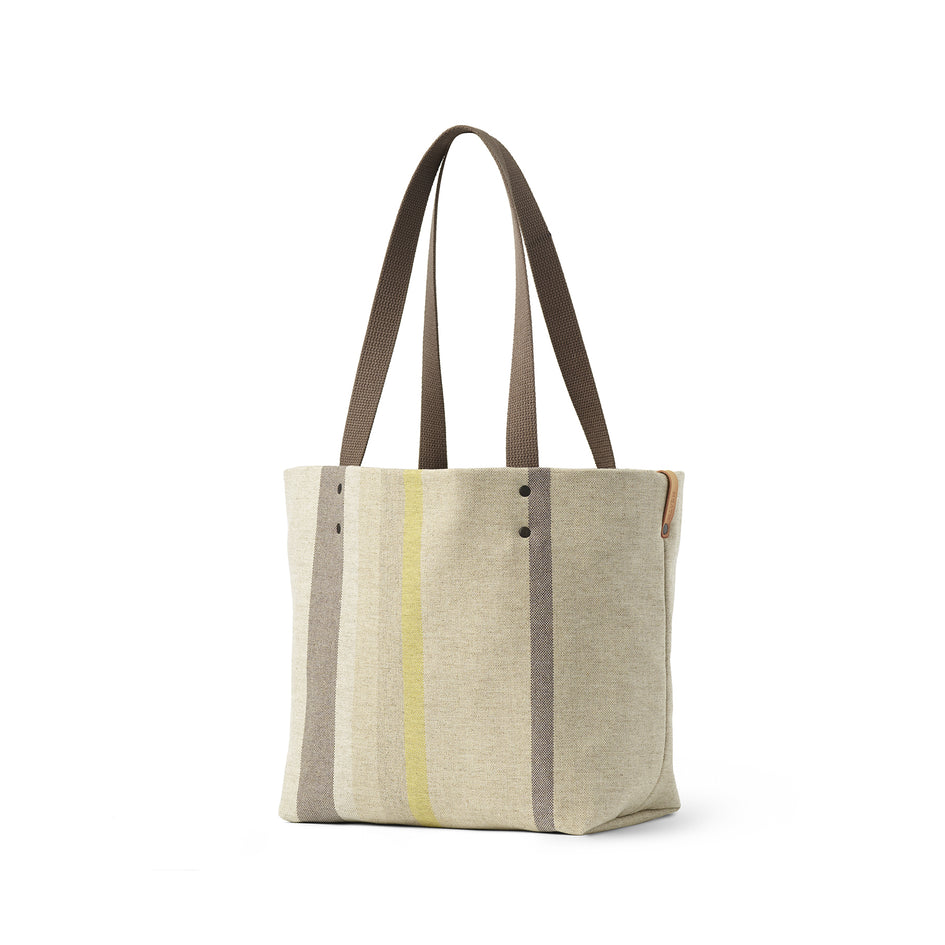 Reversible Tote in Multi-Stripe Image 1