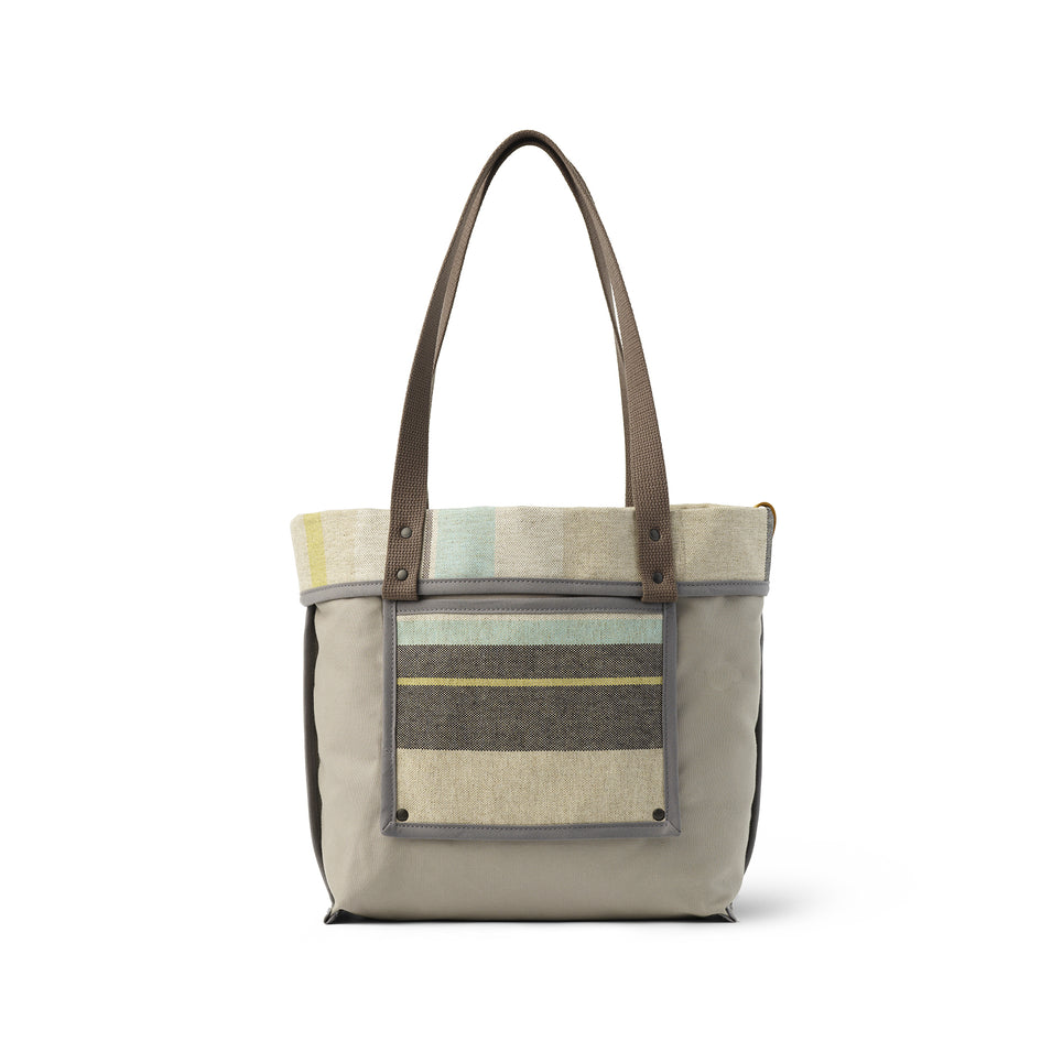 Reversible Tote in Multi-Stripe Image 4